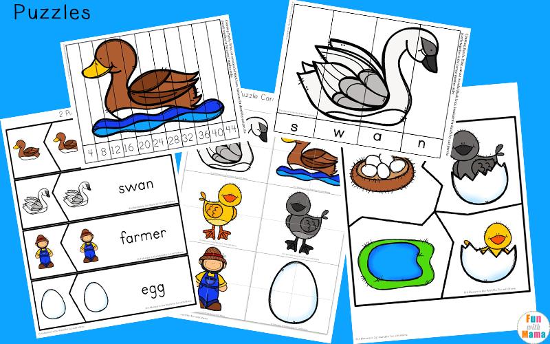 The Ugly Duckling activities for preschool