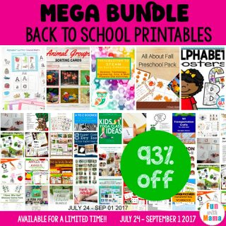 Printable Back to School Preschool Mega Bundle