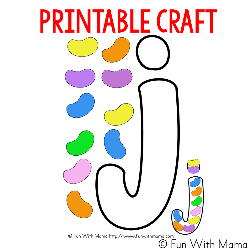 j is for jelly bean craft
