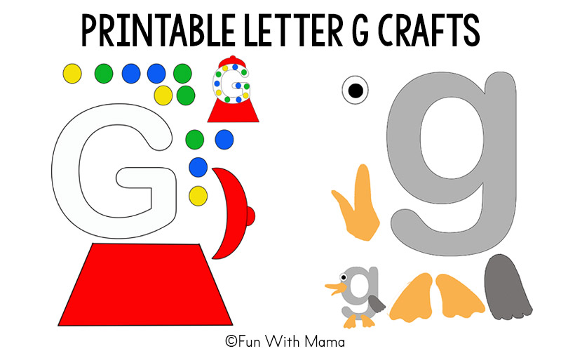 Printable alphabet letter crafts fun with mama printable letter crafts letter g crafts template spiritdancerdesigns Images