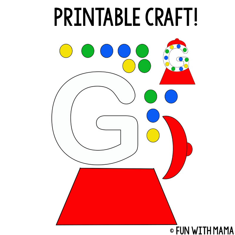 Letter g worksheets fun with mama you could download the letter g is for gumball craft and letter g is for goose craft here and grab the free letter crafts templates here spiritdancerdesigns Images