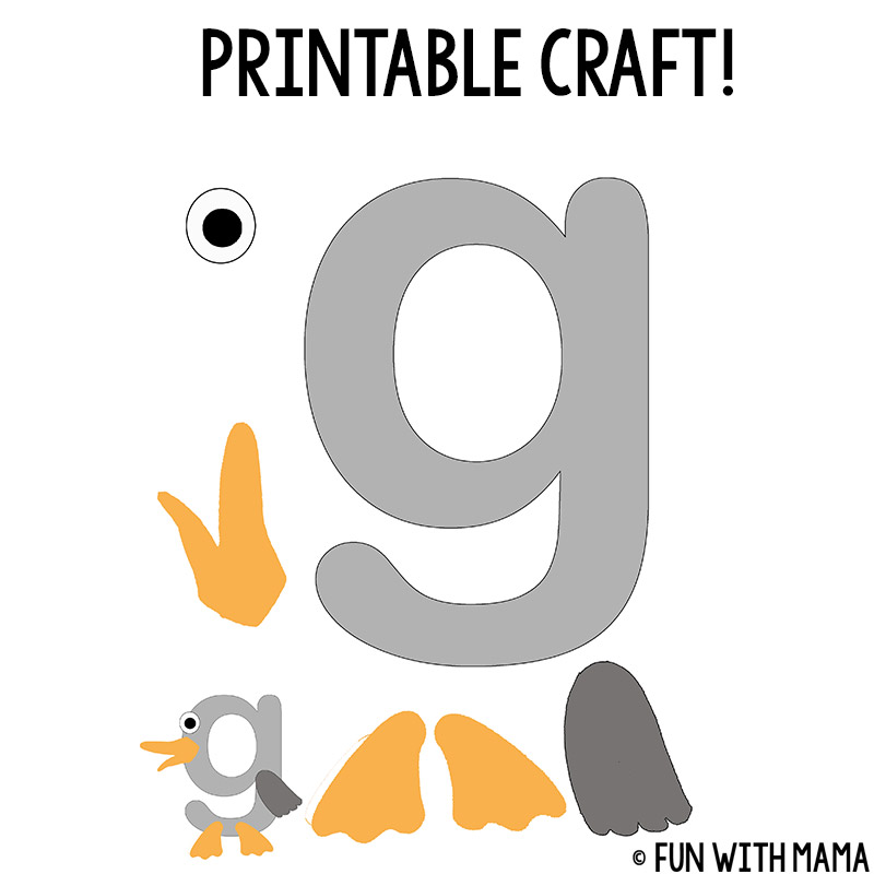 Letter g worksheets fun with mama pictures that start with the letter g spiritdancerdesigns Gallery