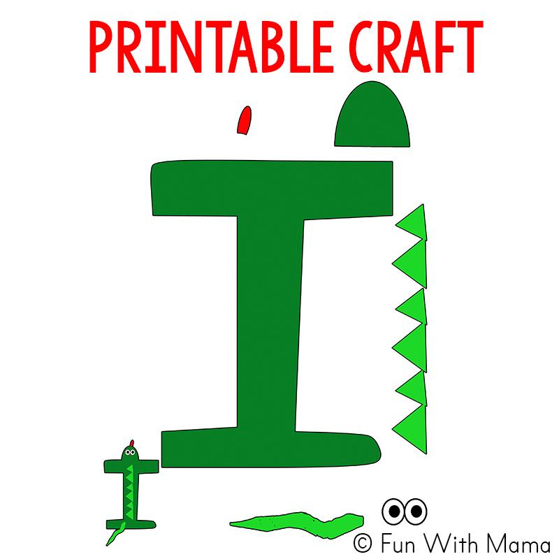 letter i is for iguana craft
