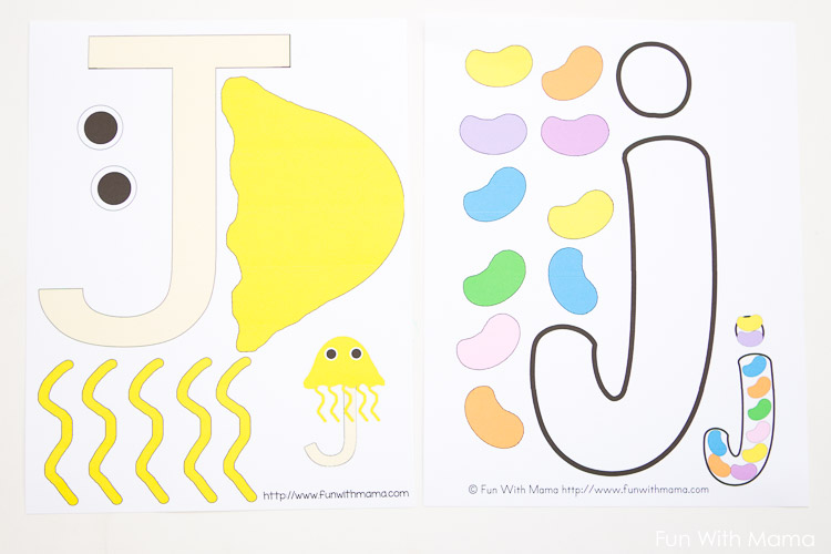 Letter j worksheets activities fun with mama for Letter j template preschool