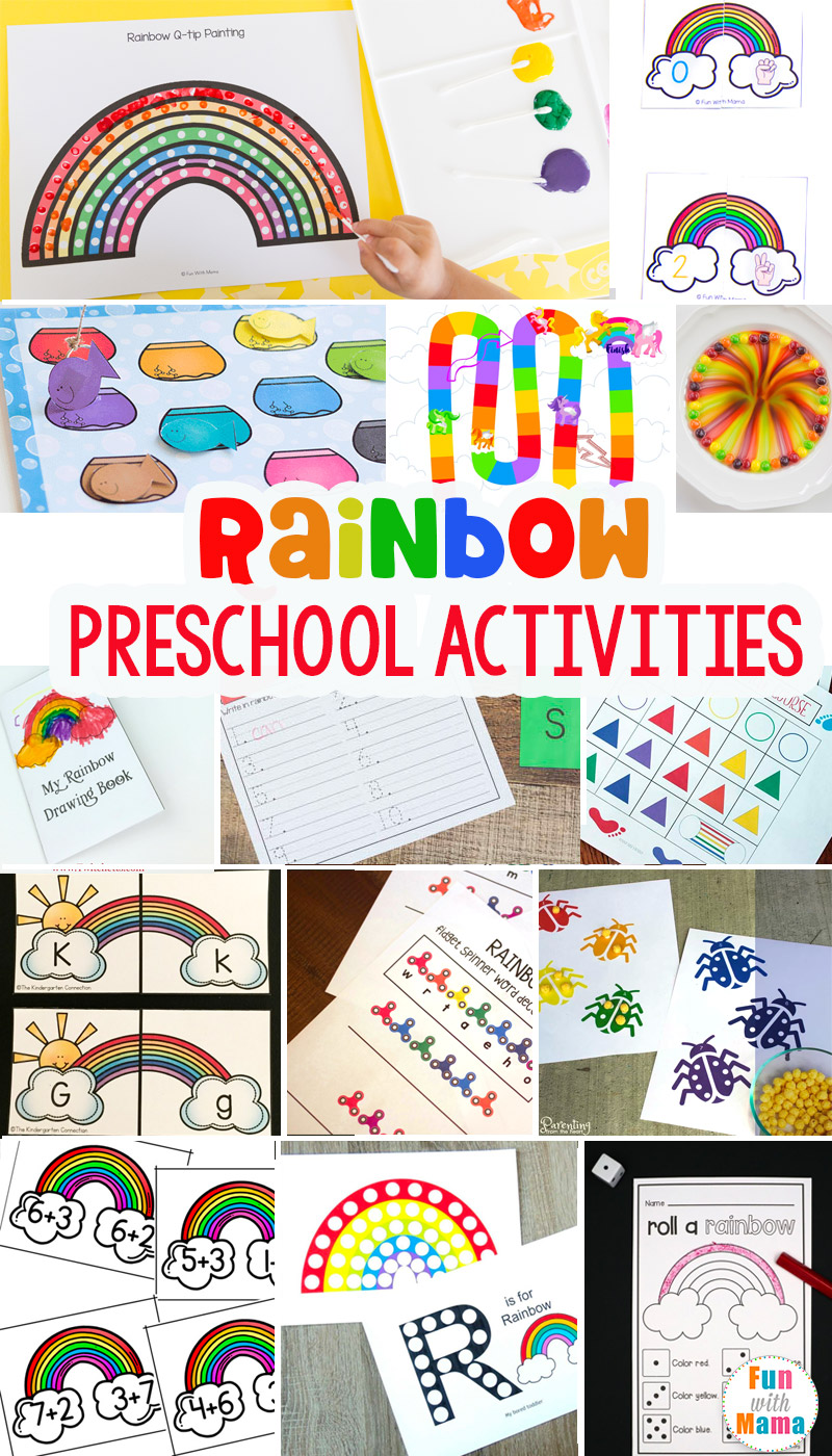rainbow preschool learning activities