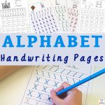 Alphabet Letter Handwriting Pages