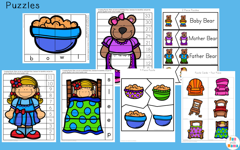 goldilocks and the three bears activities for kindergarten