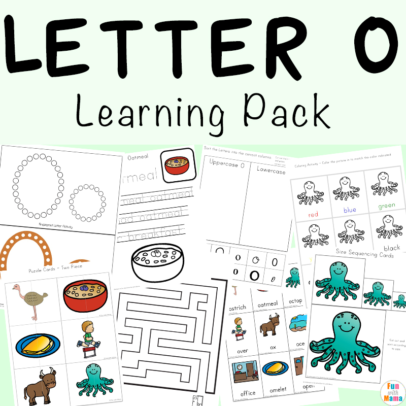 Letter O Worksheets And Activities Pack - Fun With Mama