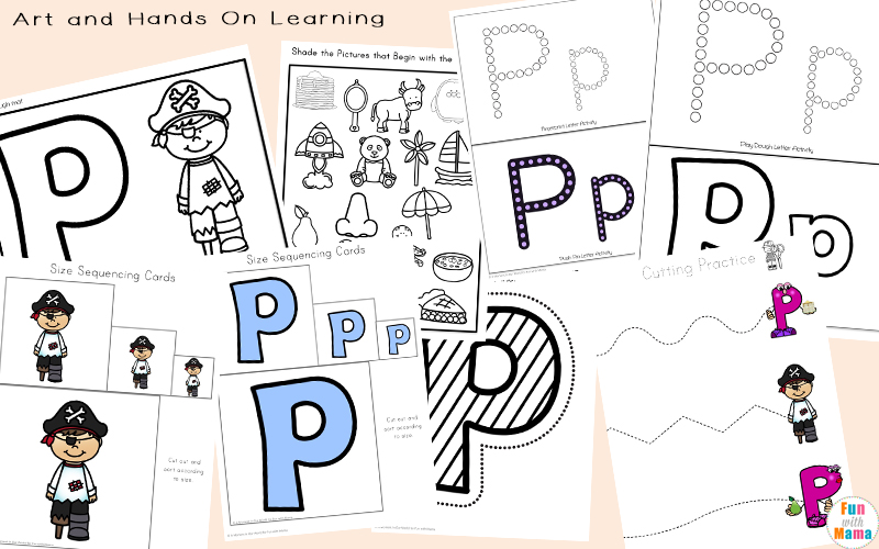 alphabet letter p art activities