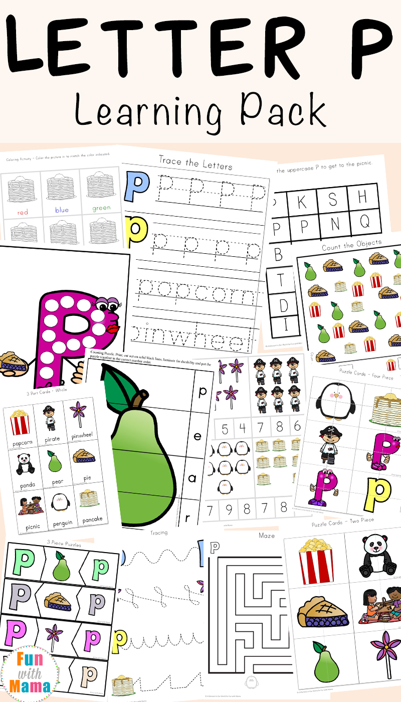 letter p worksheets and printable activities for preschoolers and kindergarteners