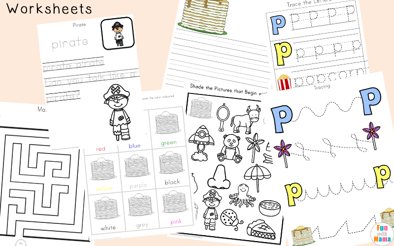 letter p worksheets