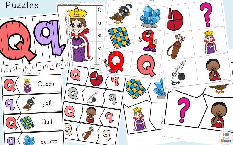 Printable Games For Kids - Letter Q