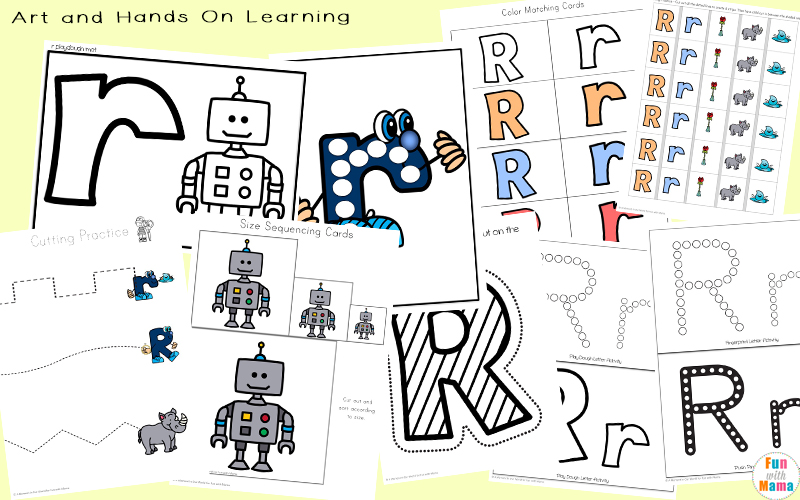 letter r activities for preschool arts crafts