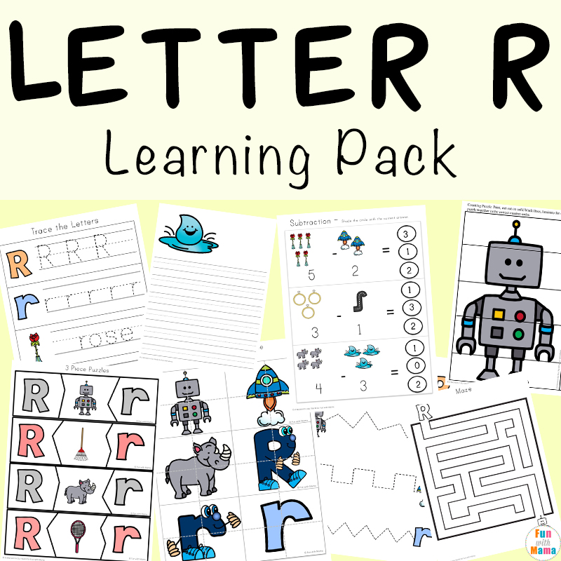 Letter R Worksheets And Printable Preschool Activities Pack - Fun With Mama