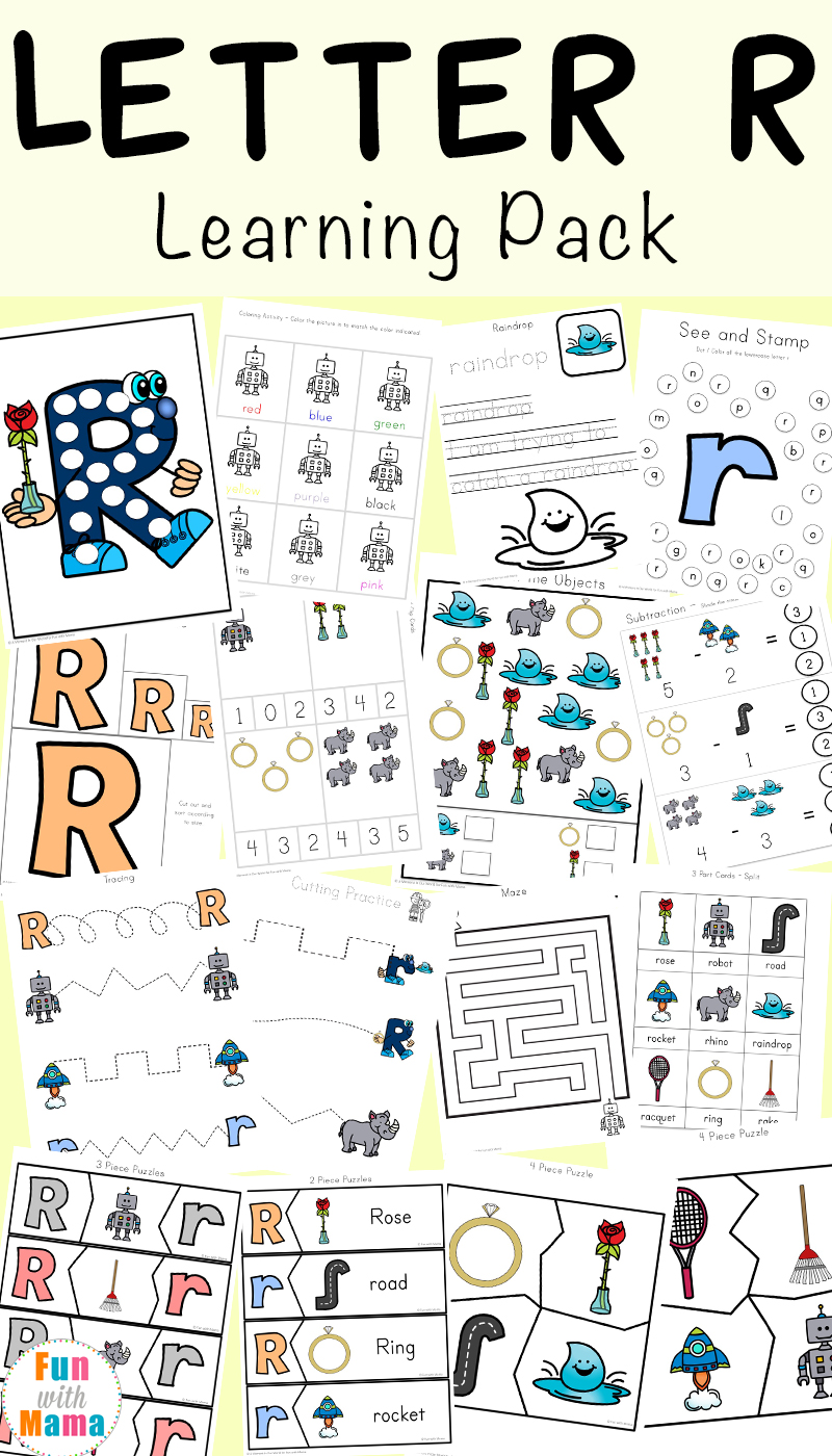 Letter R Worksheets and Printable Preschool Activities Pack - Fun ...