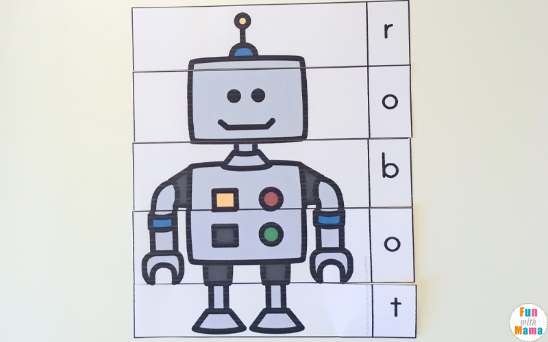 R is for Robot Free Printables