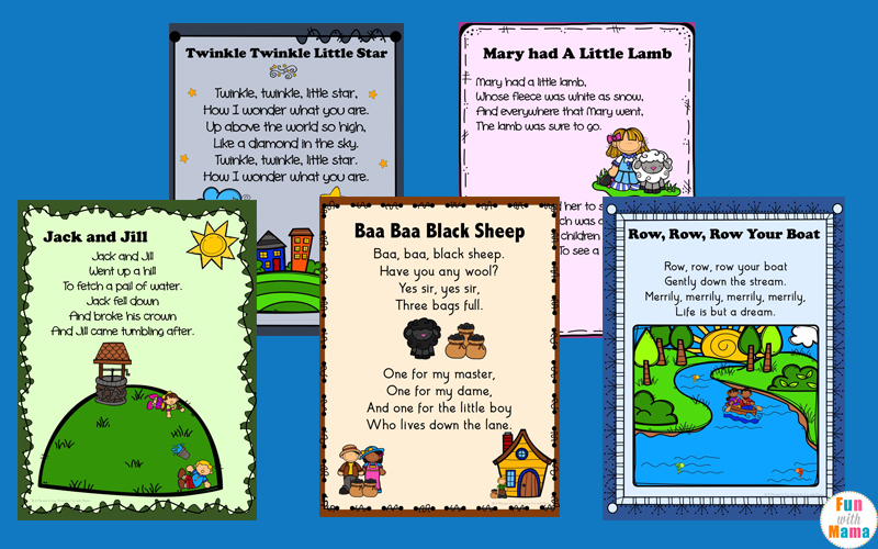 Nursery Rhymes Printables Posters Fun