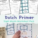 Dolch Primer Sight Words Worksheets