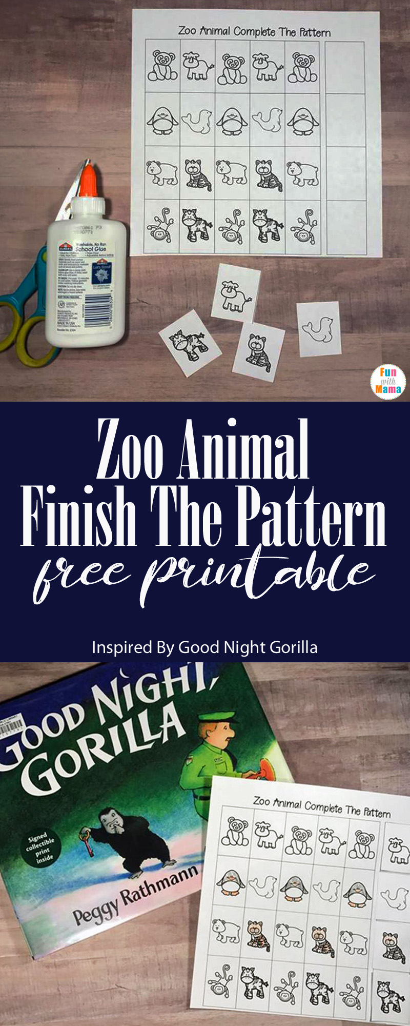 Zoo Animal Finish The Pattern Printable Inspired By Good