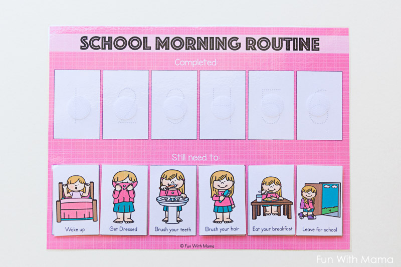 kids schedule morning routine for school   fun with mama