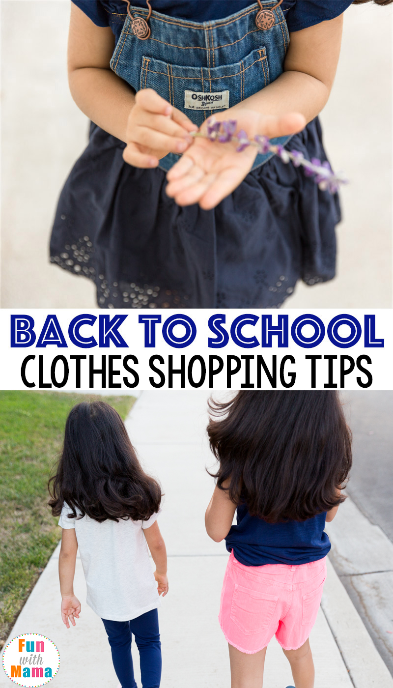 Back to school clothing kids shopping ideas and tips, first day of school picture ideas. OshKosh B'Gosh.