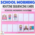 Kids Schedule Morning Routine For School