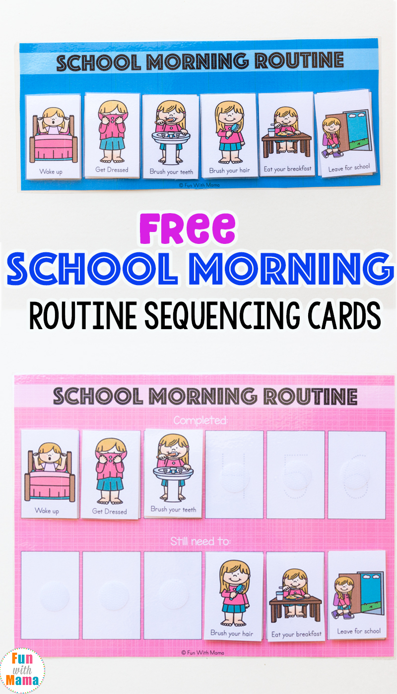 Kids Schedule Morning Routine For School - Fun with Mama
