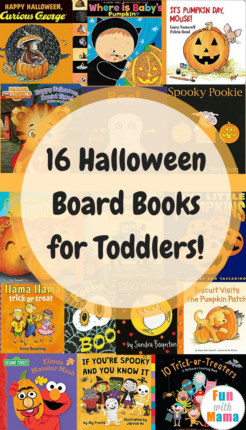 check out this list of fun halloween board books for toddlers and preschoolers starring some familiar characters and some great lessons
