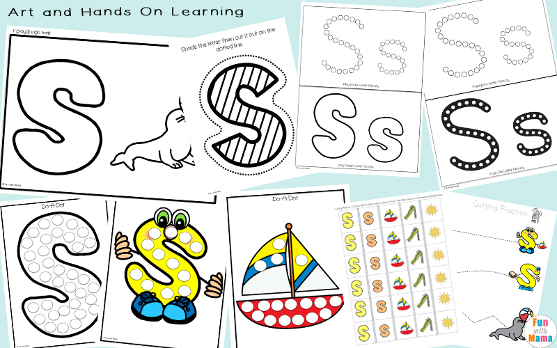 Using Art and Hands On Learning To Practice The Letter S.