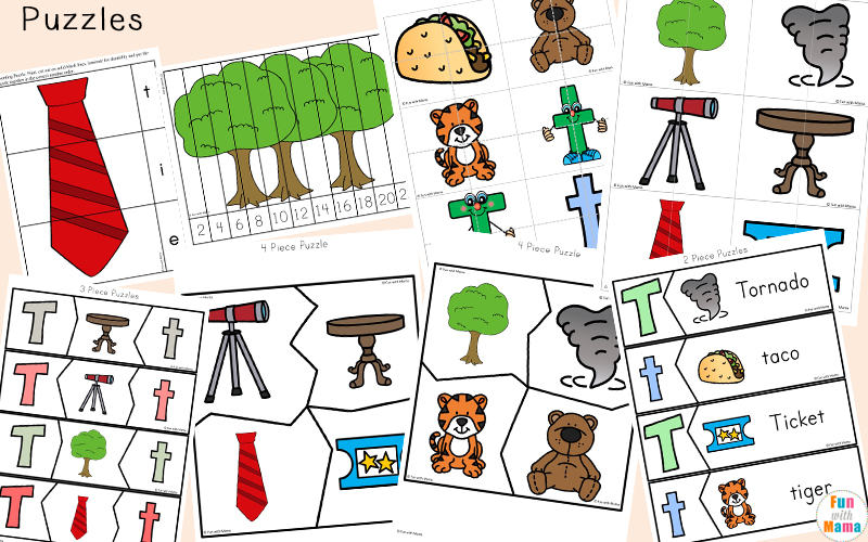 Letter T Printable Activities For Kids