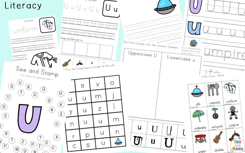 Uppercase and lowercase letter u sorting worksheet
