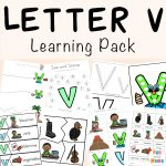Letter V Worksheets for Preschool + Kindergarten