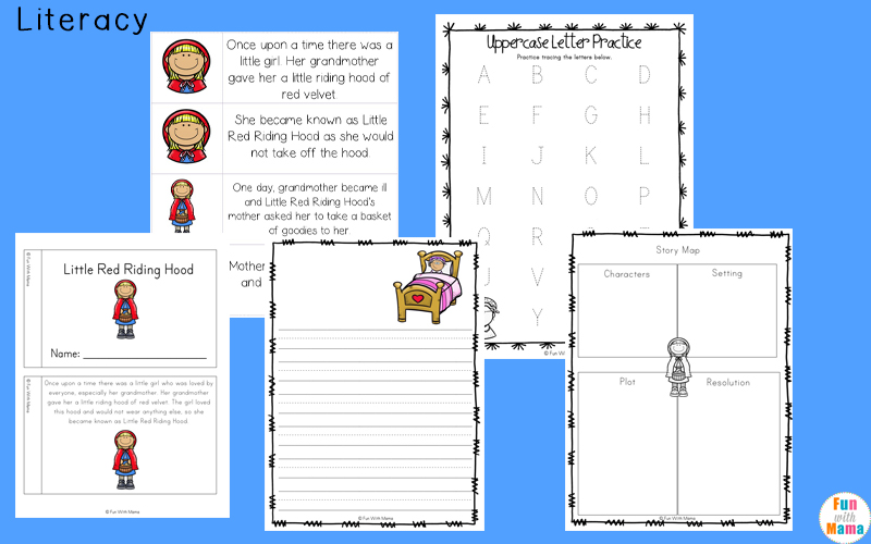 Little Red Riding Hood Printables And Activities Pack Fun With Mama