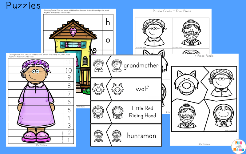little red riding hood activities for kindergarten