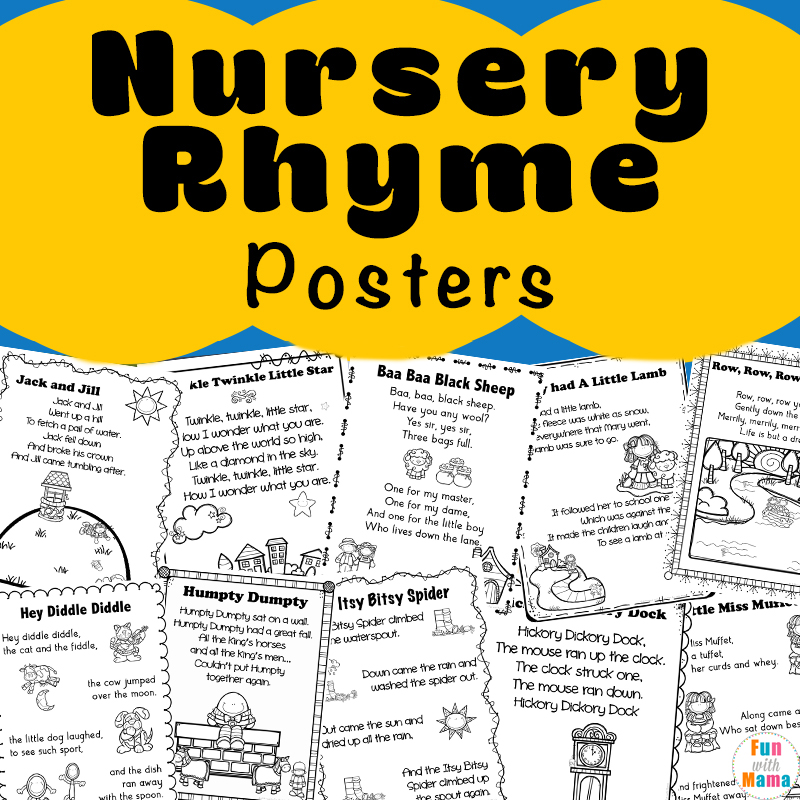 Nursery Rhymes Printables Poster
