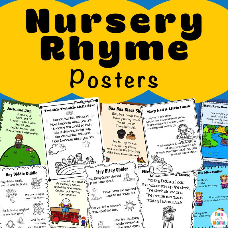 To Get The Full Color Nursery Rhyme Printables Variety Bundle