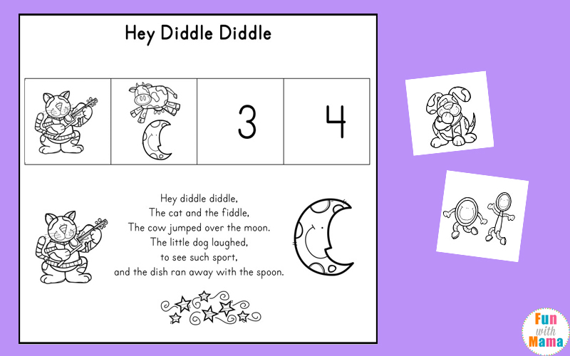 hey diddle diddle sequencing worksheet
