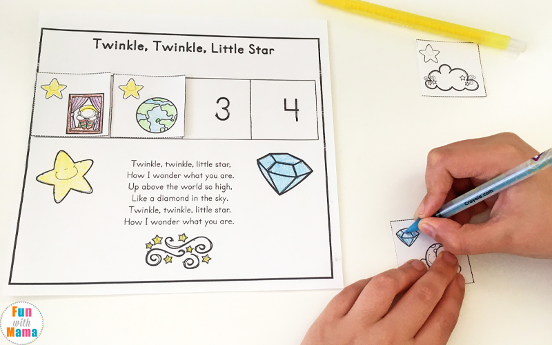 twinkle twinkle little star sequencing activity printable
