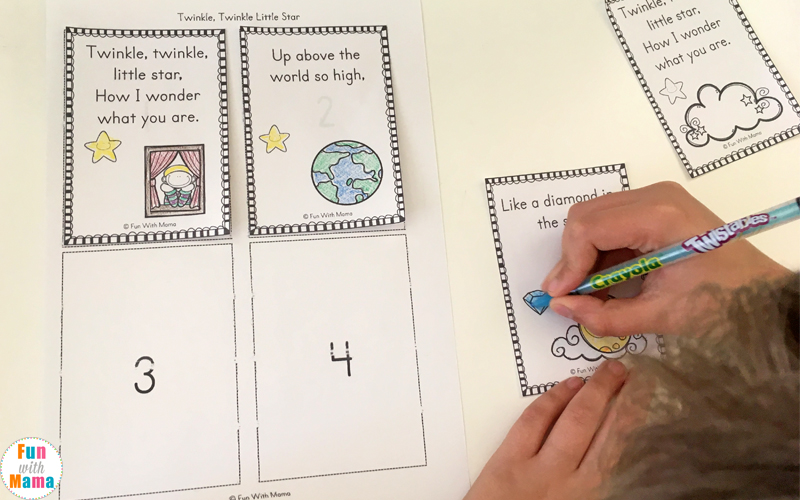 nursery rhymes sequencing activities