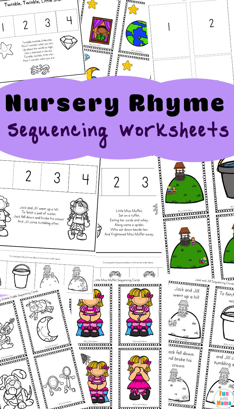 This Free Collection Of 10 Different Nursery Rhymes Sequencing Activities Can Be Added To Your Homeschool Preschool Or Kindergarten Rhyme Unit