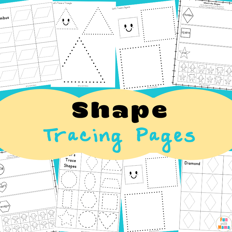 tracing shapes worksheets