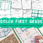 Dolch First Grade Sight Words Worksheets