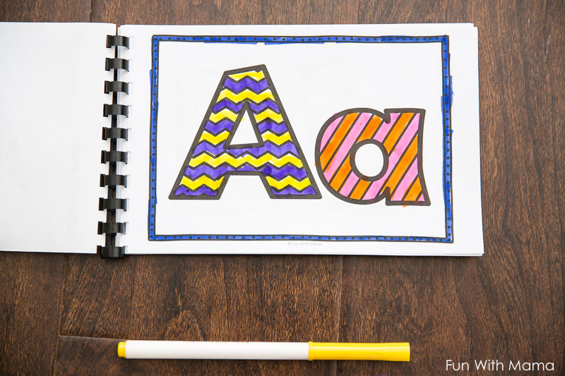 alphabet letter coloring pages