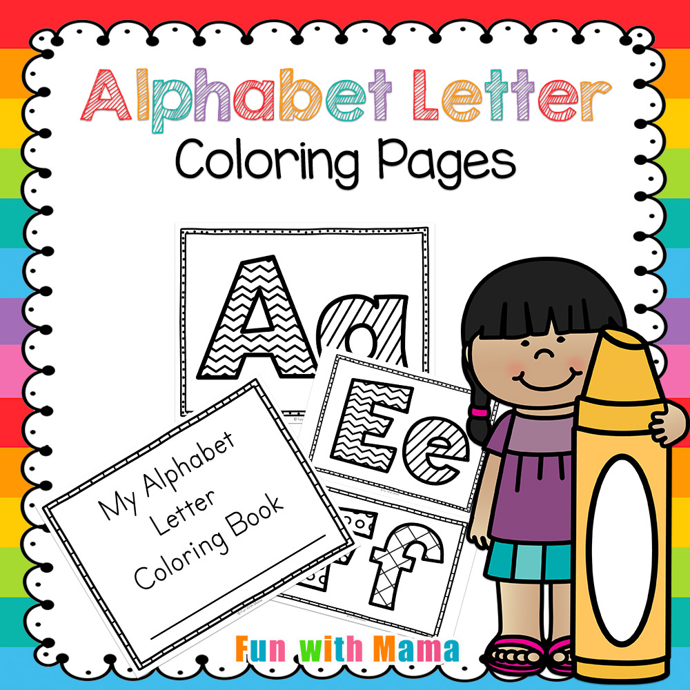 - Alphabet Letter Coloring Pages Book - Fun With Mama Shop