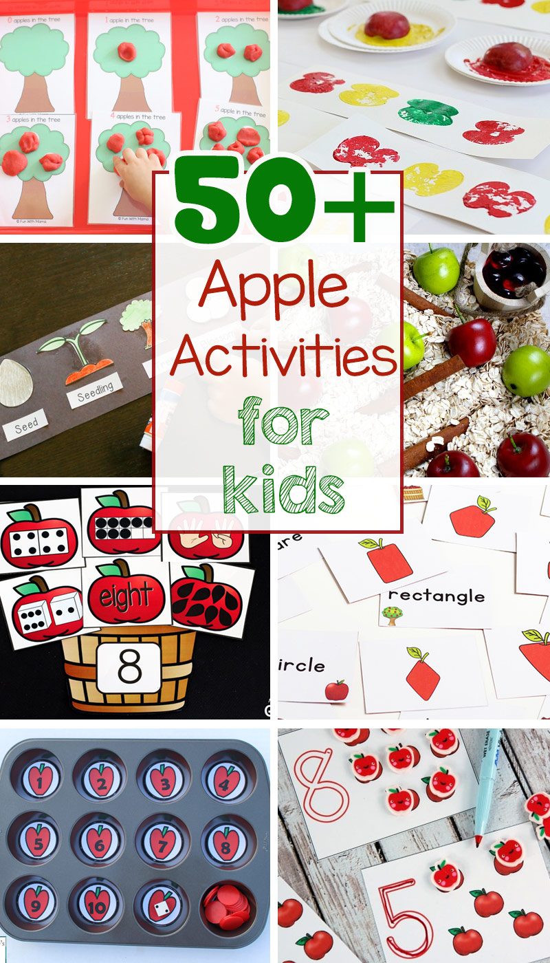 Kinder Garden: 50+ Fun Apple Activities For Preschoolers + Kindergarten