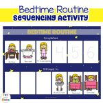 Bedtime Routine Printable Sequencing Activity