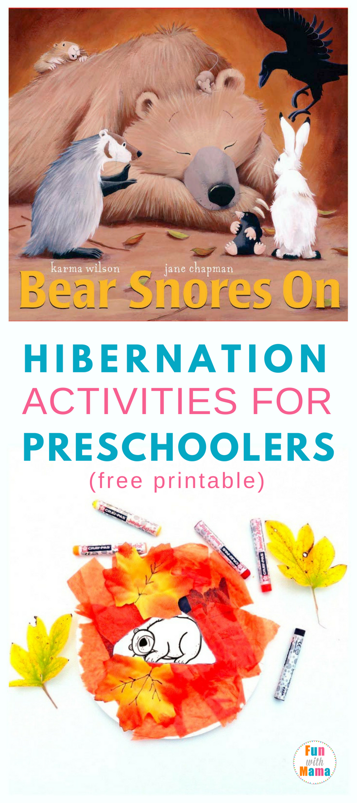 Bear snores On| Ideas| Fun| Preschool| Free printables| Craft