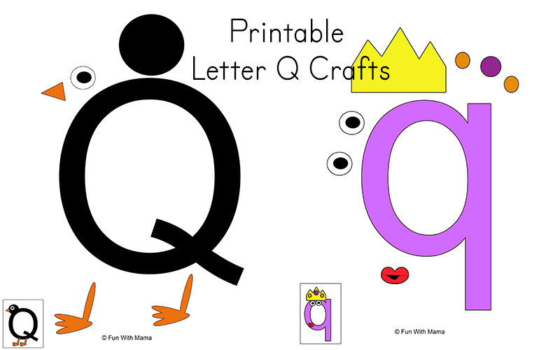 Letter Q Preschool Printable Pack Fun With Mama