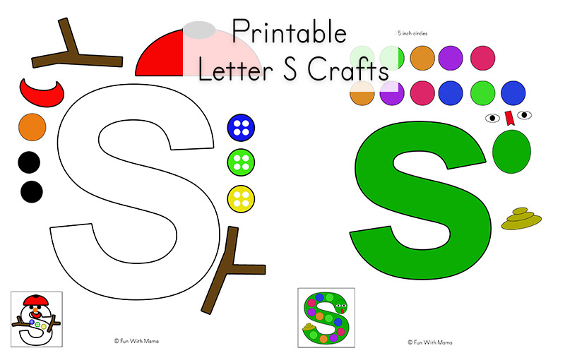 Craft Activities For Letter S