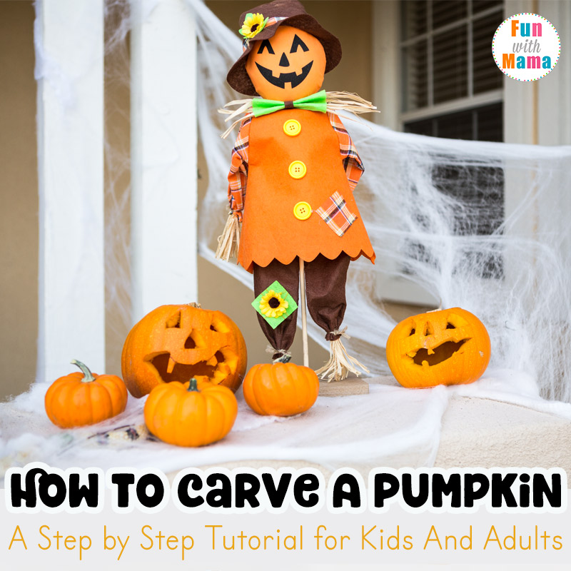 How to carve a pumpkin with kids step by fun mama